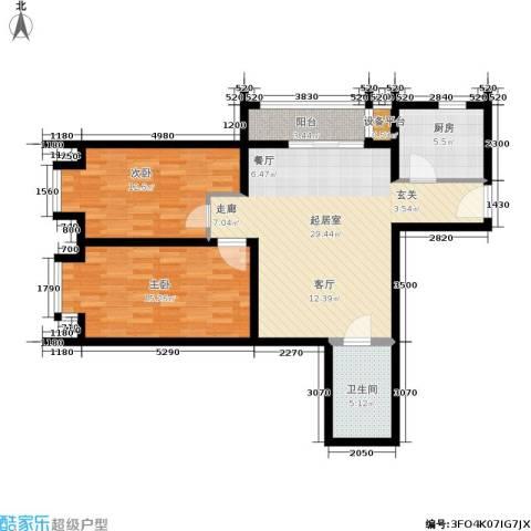 昊天家园2室0厅1卫1厨90.00㎡户型图