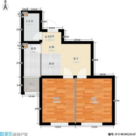 鑫丰又一城2室0厅1卫1厨65.00㎡户型图