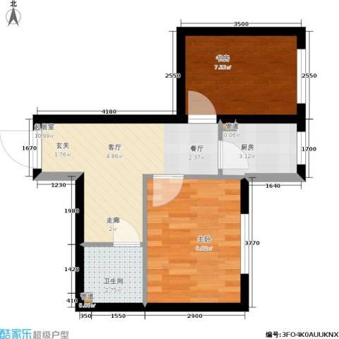 鑫丰又一城2室0厅1卫1厨50.00㎡户型图