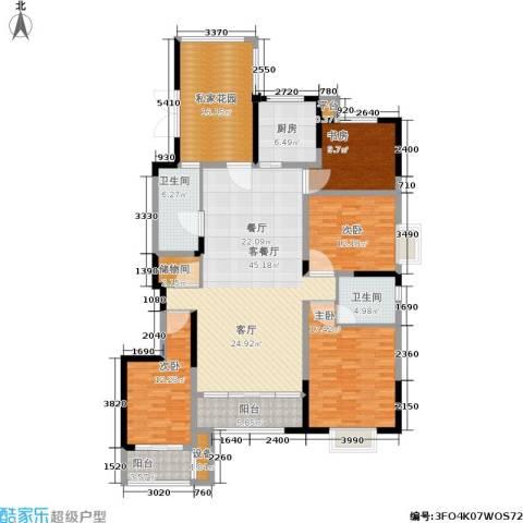 佳天・瑞宁花园4室1厅2卫1厨164.00㎡户型图