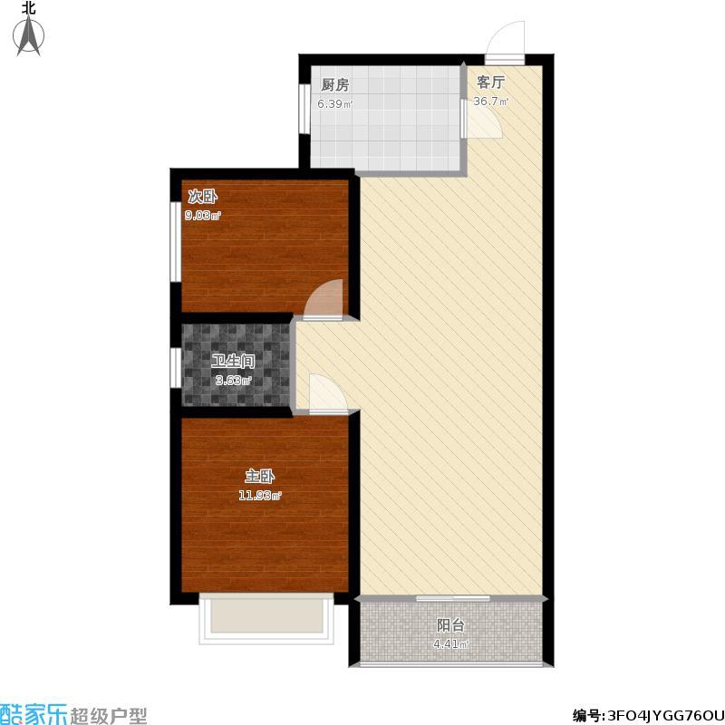 93平两室两厅