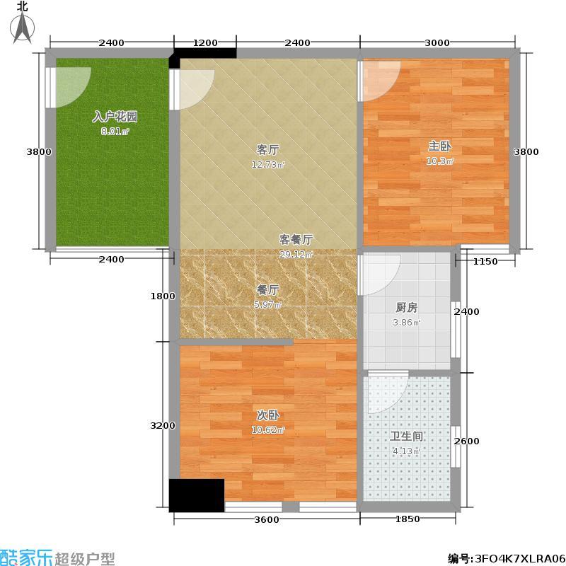 建鸿达现代空间建鸿达巧克力空间57.37㎡B3户型