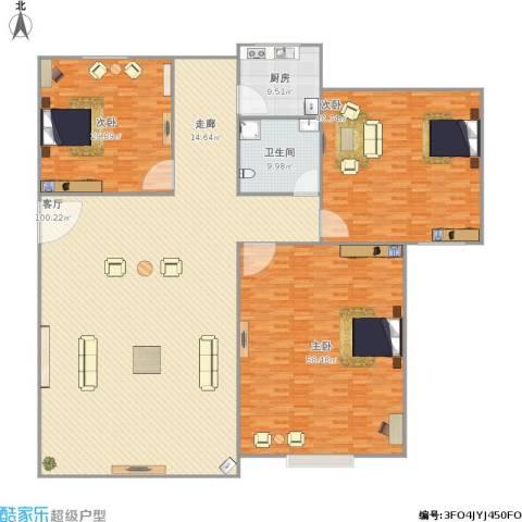棕榈假日3室1厅1卫1厨341.00㎡户型图