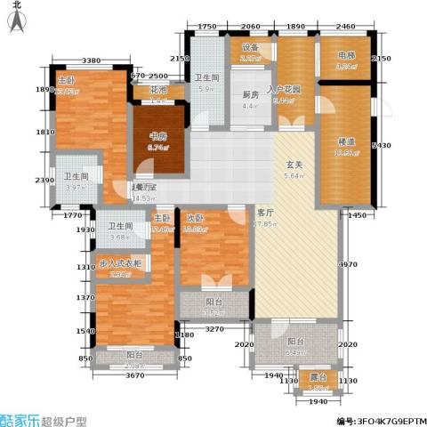 中建悦海和园4室0厅3卫1厨167.30㎡户型图