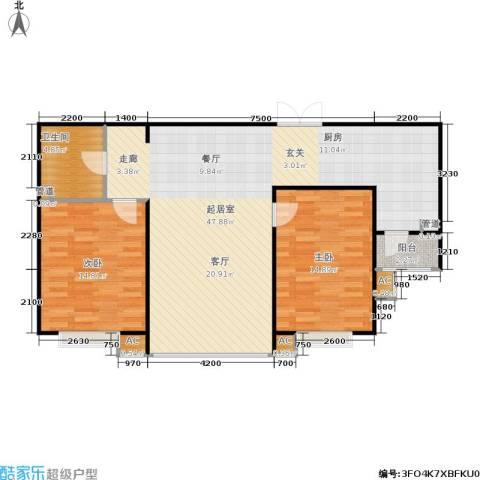 盛华苑2室0厅1卫0厨102.00㎡户型图