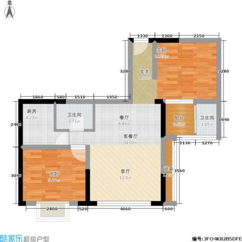 佳天・瑞宁花园1室1厅2卫1厨88.00㎡户型图
