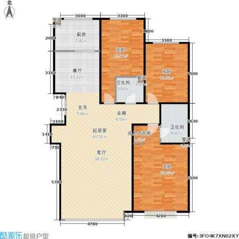 盛华苑3室0厅2卫1厨161.00㎡户型图