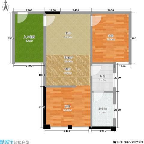 建鸿达现代空间 建鸿达巧克力空间1室1厅1卫1厨57.00㎡户型图