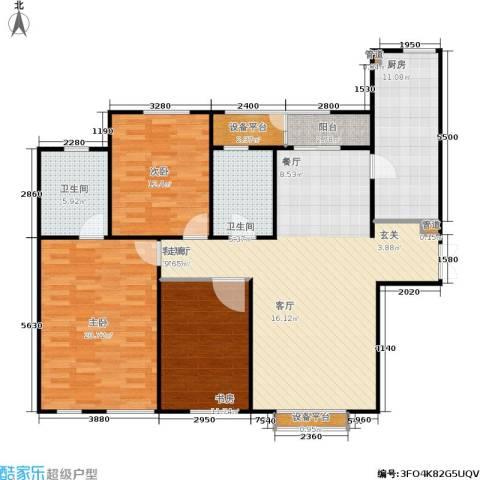 中原国际数码港--蓝堡湾 中原国际数码港 蓝堡湾3室1厅2卫1厨150.00㎡户型图