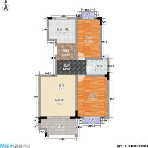 桑达园七期2室0厅1卫0厨111.00㎡户型图