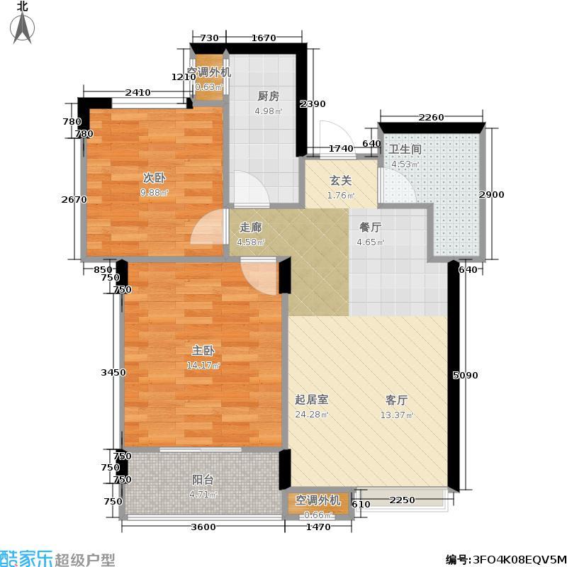 金瑞风景大院84.00㎡金瑞・风景大院2号楼N户型