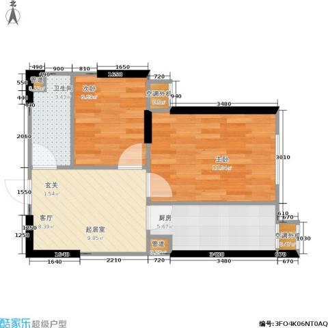 思和苑2室0厅1卫1厨54.00㎡户型图