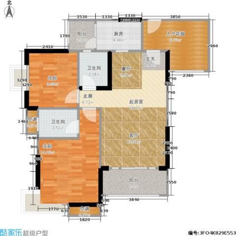 祺山・品阁2室0厅2卫1厨106.00㎡户型图
