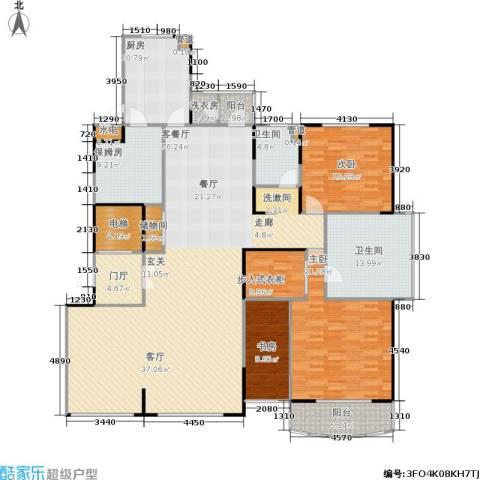 中茵皇冠3室1厅2卫1厨190.00㎡户型图