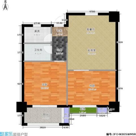 军城・港湾2室0厅1卫1厨85.00㎡户型图