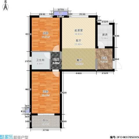 军城・港湾2室0厅1卫1厨93.00㎡户型图