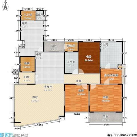 中茵皇冠国际3室1厅3卫1厨200.00㎡户型图
