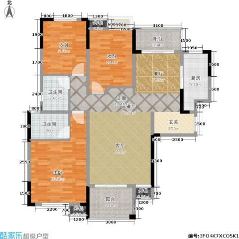 嘉宇盛世华章3室1厅2卫1厨134.00㎡户型图