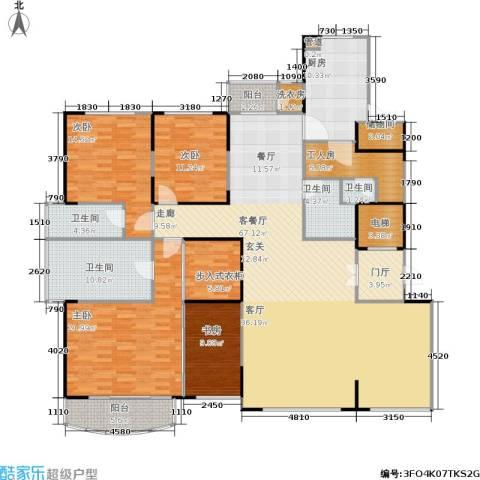 中茵皇冠4室1厅4卫1厨200.00㎡户型图