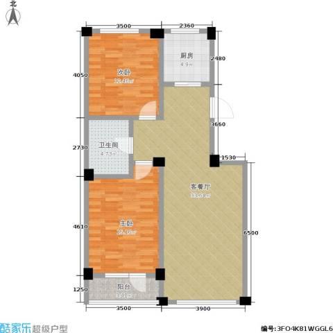鹏辉新天居2室1厅1卫1厨105.00㎡户型图