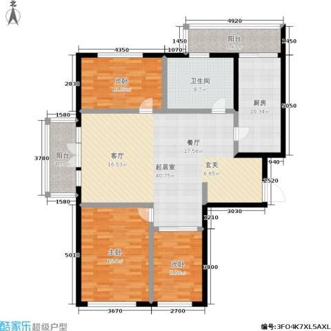 银河小区3室0厅1卫1厨151.00㎡户型图