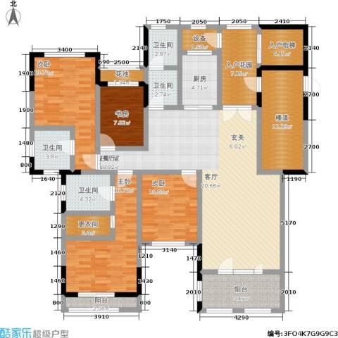 中建悦海和园4室0厅4卫1厨166.83㎡户型图