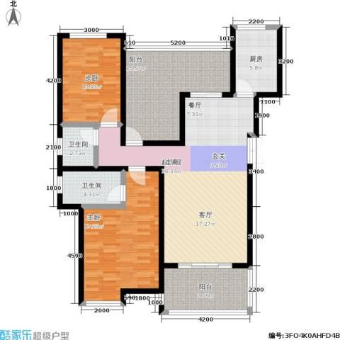 嘉盛格兰小镇2室0厅2卫1厨141.00㎡户型图