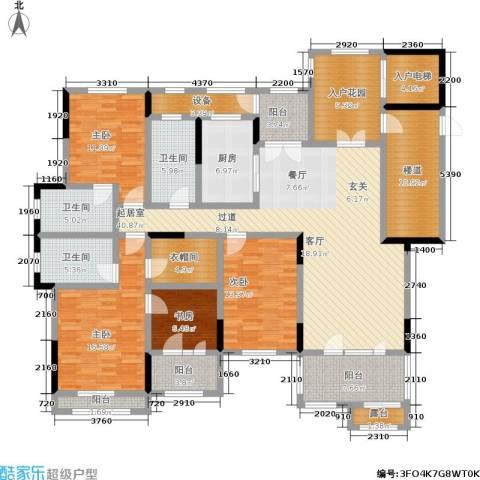 中建悦海和园4室0厅3卫1厨192.63㎡户型图