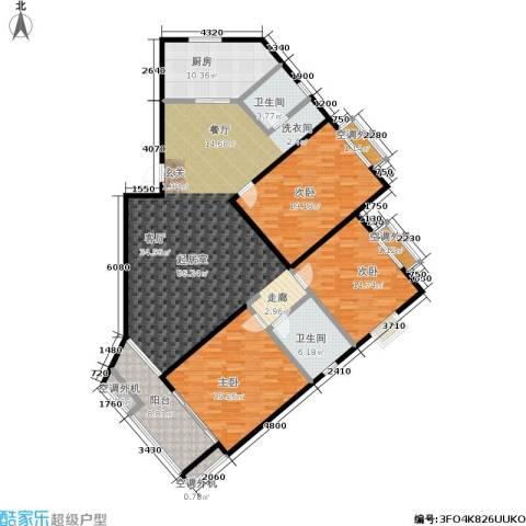幸福美地3室0厅2卫1厨153.00㎡户型图