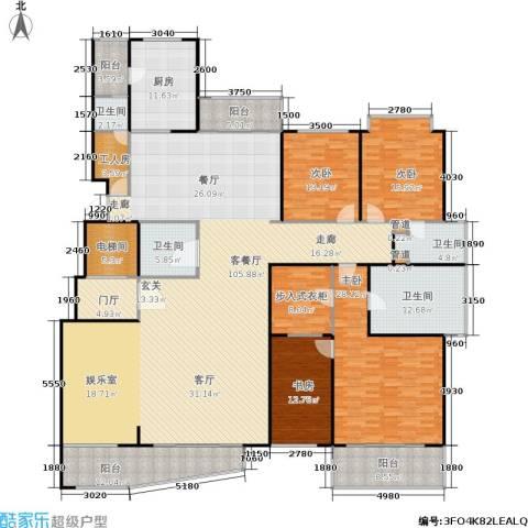 中茵皇冠4室1厅4卫1厨280.00㎡户型图