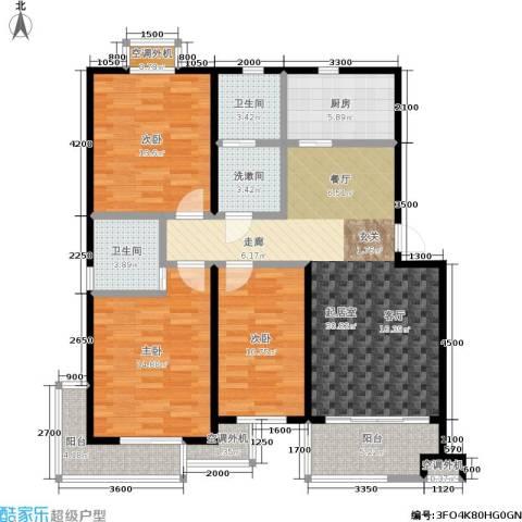 幸福美地3室0厅2卫1厨112.00㎡户型图