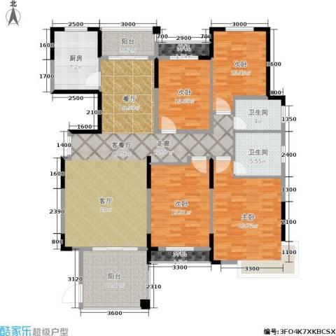嘉宇盛世华章4室1厅2卫1厨157.00㎡户型图