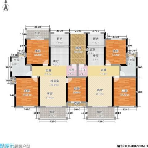 金地康城5室0厅2卫2厨181.80㎡户型图