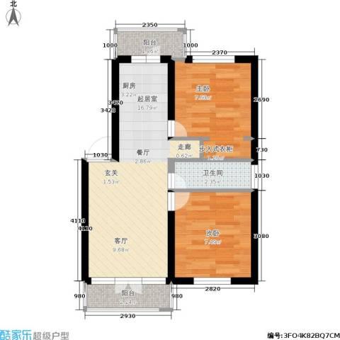 香滨名苑2室0厅1卫0厨46.00㎡户型图