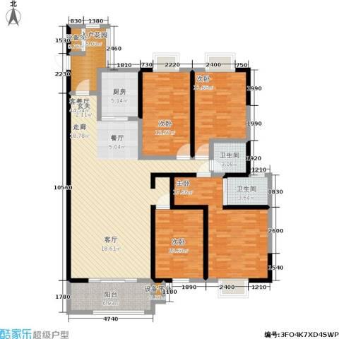 申奥美域 叠翠人家4室1厅2卫1厨144.00㎡户型图