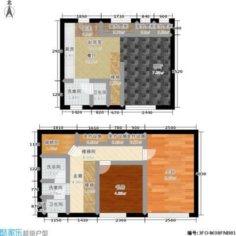 锦华银座2室0厅2卫0厨53.09㎡户型图