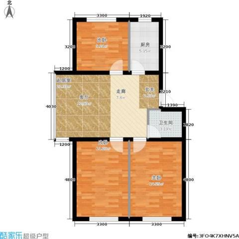 大学新城3室0厅1卫1厨120.00㎡户型图
