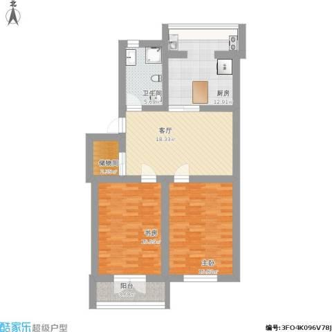敬重里2室1厅1卫1厨115.00㎡户型图