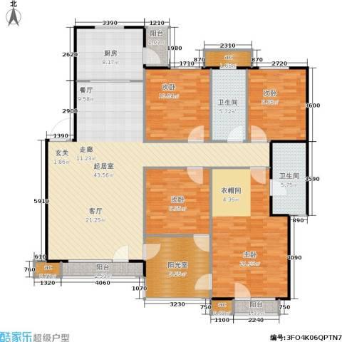 中海英伦观邸4室0厅2卫1厨145.00㎡户型图