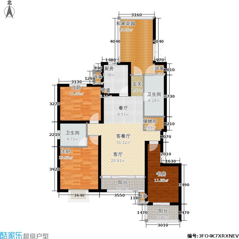 佳天・瑞宁花园户型3室1厅2卫1厨