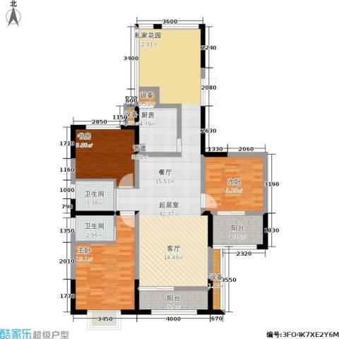 佳天・瑞宁花园3室0厅2卫1厨140.00㎡户型图