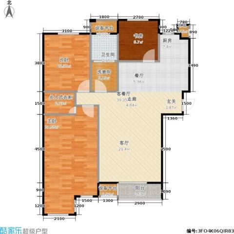 唯美品格3室1厅1卫0厨125.00㎡户型图