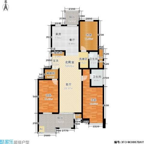 金鸡湖花园3室0厅2卫0厨140.00㎡户型图