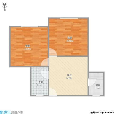金樟花苑2室1厅1卫1厨55.38㎡户型图