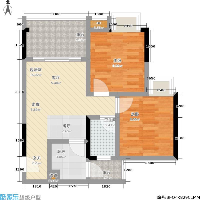 荣涛・丽苑47.84㎡房型户型