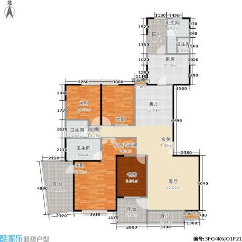 枫林绿洲A9公馆4室1厅4卫1厨167.00㎡户型图