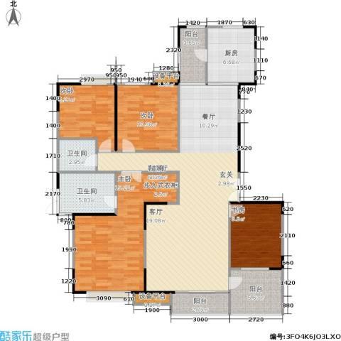 枫林绿洲A9公馆4室1厅2卫1厨126.00㎡户型图