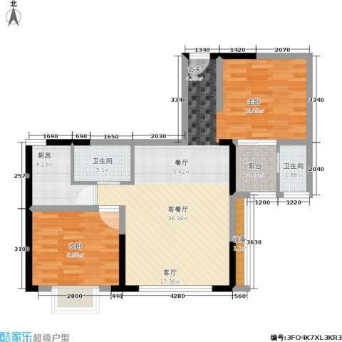 佳天・瑞宁花园1室1厅2卫1厨86.00㎡户型图