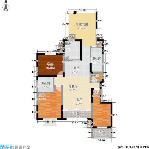 佳天・瑞宁花园3室1厅2卫1厨156.00㎡户型图