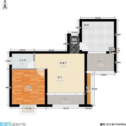 佳天・瑞宁花园1室1厅1卫1厨84.00㎡户型图